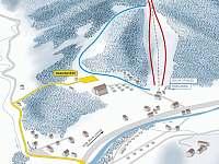 Ski areál Armáda - 100 m od penzionu - Dolní Lomná