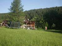Pohled na terasu - pronájem chaty Horní Bečva