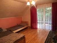 1.ložnice - chalupa ubytování Návsí