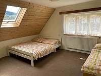 3 lůžková ložnice - horní - chalupa ubytování Hutisko - Solanec