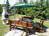 Krb na chatě Horní Bečva se zahradním posezením