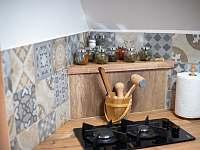 Kuchyň - detail - pronájem chaty Rajnochovice