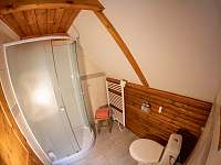 Sprchový kout v koupelně - chata ubytování Rajnochovice