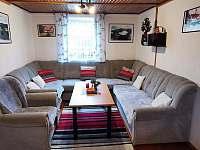 Obývací pokoj - chata k pronájmu Horní Bečva