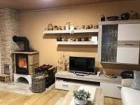 obývací pokoj - chata k pronajmutí Velké Karlovice