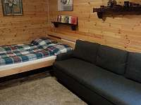 spací část malý apartmán - chalupa k pronajmutí Velké Karlovice