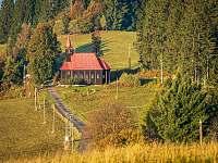 Kostel na Gruni - pronájem chalupy Lubno