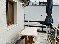 terasa s výhledem - chata ubytování Čeladná