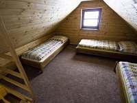 Ložnice v apartmánu v podkroví