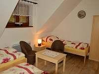 Pokoj A - dvě samostatná lůžka, patrová postel, přistýlka