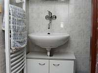 2.koupelna (malá) s umyvadlem a velkým sprch.koutem