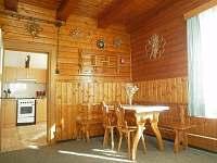 Společenská místnost - pronájem chalupy Velké Karlovice