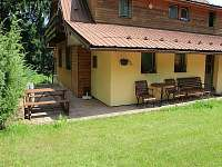 Chata Sluníčko - venkovní posezení - k pronajmutí Horní Bečva