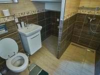 velký apartmán_koupelna se sprchou k pokoji v přízemí - pronájem chalupy Hutisko Solanec