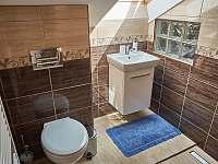 velký apartmán_koupelna v patře se sprchou - Hutisko Solanec