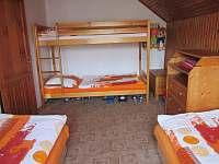 Ložnice se 4 lůžky - pronájem chalupy Hrčava