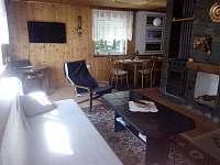 obývací pokoj - chata ubytování Bílá