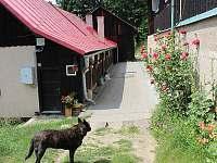Dům majitelů s apartmánem a dům s vícelůžkovými pokoji přes dvůr - chata ubytování Lužná u Vsetína