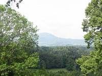 pohled z okna - chata ubytování Kunčice pod Ondřejníkem