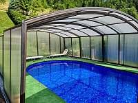 Zrekonstruovaný bazén na chalupě Vranečka 2021 - k pronájmu Nový Hrozenkov