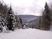 zimní pohled od chaty - k pronajmutí Tyra