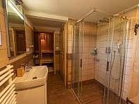 sauna s vlastní koupelnou a wc - chalupa k pronajmutí Kunčice pod Ondřejníkem