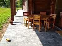 Chata ALDI, terasa - ubytování Prostřední Bečva