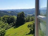 výhled z okna - chata ubytování Huslenky