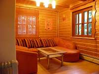 Obývací pokoj - pronájem chaty Řeka
