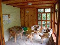 veranda - chata k pronájmu Řeka