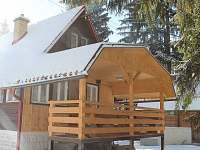 Krytá terasa v zimě