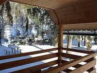 Pohled z terasy v zimě
