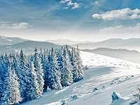 Bílé Karpaty v zimě - Hluboče