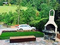 pohled z terasy - chata k pronájmu Dolní Lomná