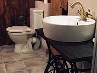 Komora koupelna - chalupa k pronájmu Karolinka