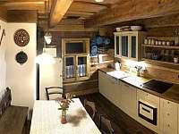 Výminek -kuchyně - chalupa ubytování Karolinka
