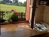 Z kuchyně je výhled na louku - Ostravice
