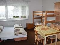 ložnice č.2 ,přízemí 3 lůžka -1 přistýlka ( poschoďová postel )pohled od dveří