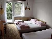 ložnice č. 5 první patro 2 lůžka - 1 přistýlka pohled od dveří