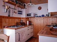 kuchyň - pronájem chaty Trojanovice