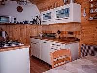 kuchyň - chata k pronajmutí Trojanovice