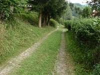 příjezdová cesta k chatě - Rusava