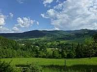 Výhled z chaty - ubytování Dolní Lomná