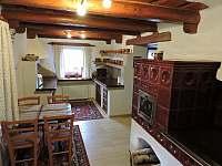kuchyň - přízemí - chalupa ubytování Lhotka pod Ondřejníkem