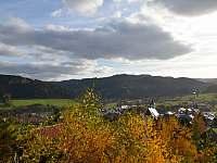 vyhled z terasy,obyvaku - chata ubytování Hutisko-Solanec
