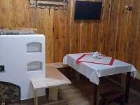 Jídelní kout - chalupa ubytování Karolinka