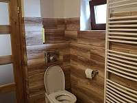 WC přízemí - chata k pronajmutí Veřovice