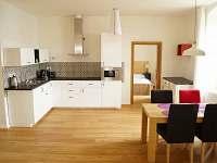 Apartmán I - kuchyň s jídelním stolem - k pronajmutí Terezín