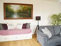 Apartmán I - rozkládací lůžko v obývacím pokoji - ubytování Terezín