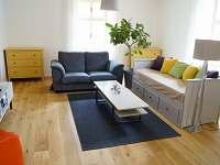 Apartmán II - obývací pokoj s rozkládací pohovkou
